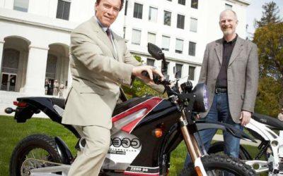 La moto électrique est en marche