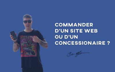 Commander d'un site web ou d'un concessionaire ?